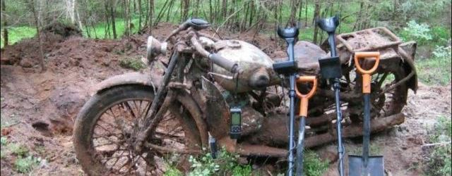 WWII Treasure – Buried Motorcycle in the Forest
