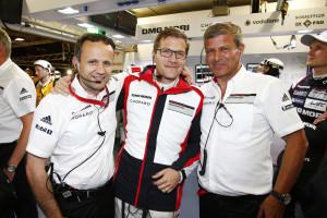 Alexander Hitzinger, Technical Director LMP1, Andreas Seidl, Team Principal, Fritz Enzinger, Vice President LMP1 (l-r)