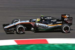 Perez force india Motor Racing - Formula One World Championship - Malaysian Grand Prix - Practice Day - Sepang, Malaysia