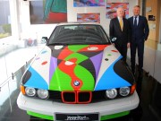 BMW Art Car by C  sar Manrique BMW Group gets 10th BMW Art Car created by artist César Manrique at the India Art Fair 2016