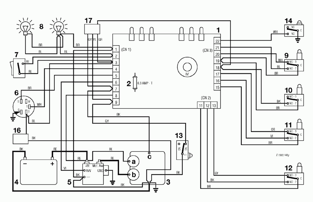 shock sensor wiring diagram