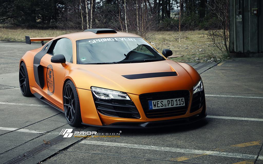 Gymkhana 7 Car Wallpaper Gallery Prior Design Audi R8 Gt850 In Matte Orange