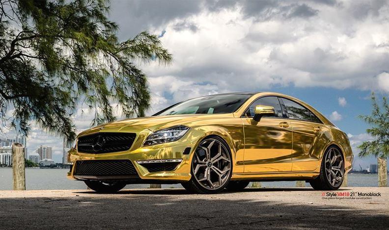 Mercury Hd Wallpaper Gold Mercedes Cls63 Amg By Mc Customs