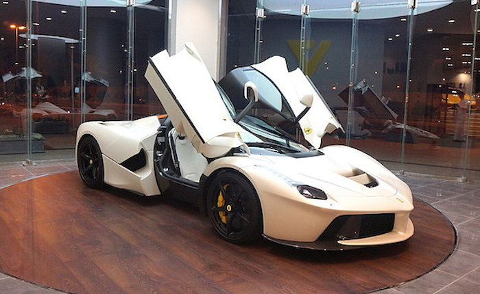 Bronco Cars Wallpaper Matte White Laferrari Spotted At Saudi Showroom