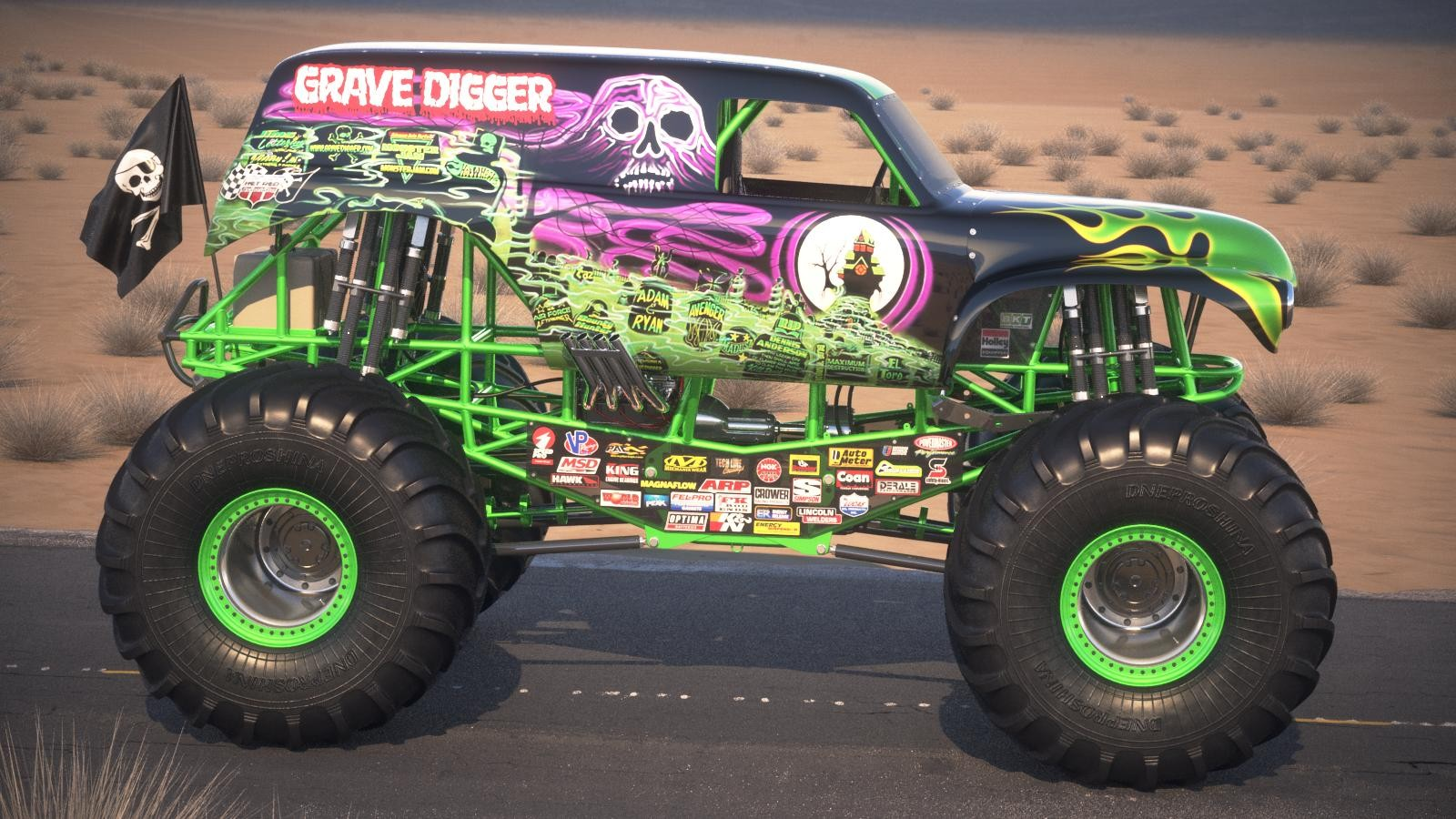 Car Black And Green Wallpaper Monster Trucks Passion For Off Road Adventure