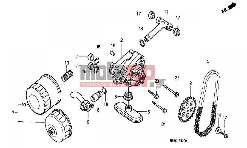 fuel oil filter replacement cartridge