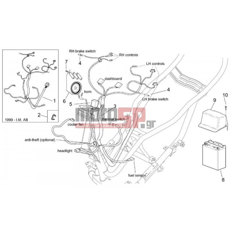 motoSP - Aprilia - LEONARDO 125-150 2001 - Electrical replacement parts