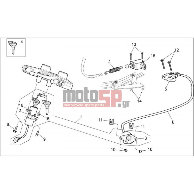 motoSP - Aprilia - PEGASO STRADA TRAIL 650 IE 2005 - Electrical
