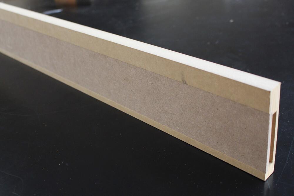 Plinthe electrique mdf à peindre - 19 x 110 mm - Bords carrés - Plinthes Bois A Peindre