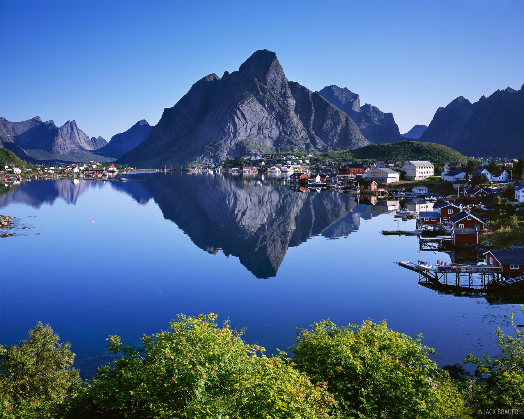 Hd Puzzle Wallpaper Reine Reflection Lofoten Norway Mountain Photography