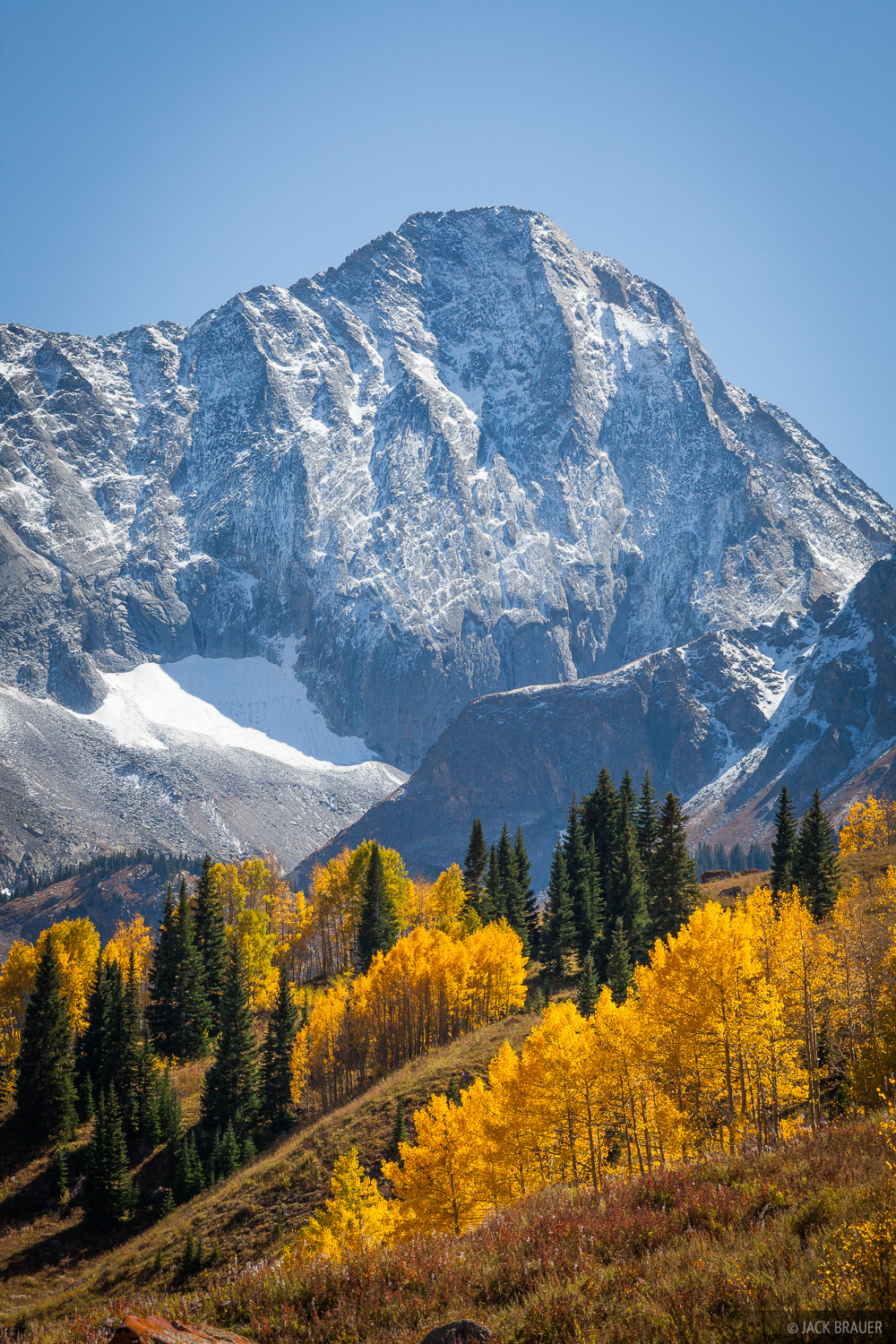 Fall Colors Mobile Wallpaper Capitol Peak Autumn Vertical Elk Mountains Colorado