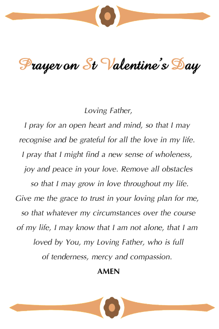 prayer on st valentines day - Saint Valentine Prayer