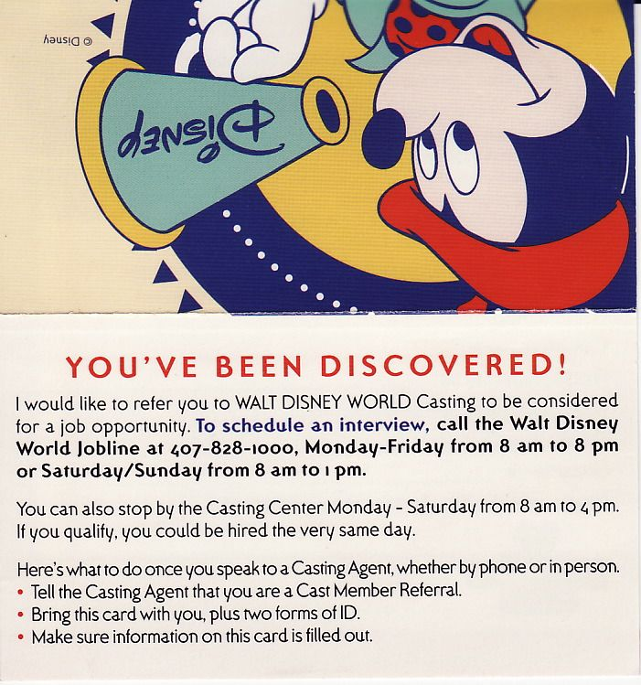 Mouseplanet - How To Get A Job At Walt Disney World by Jeff Kober - referral employment