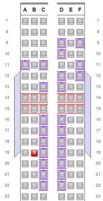 American Airlines Aisle Seats Now a Perk for the Loyal or Rich - a seating