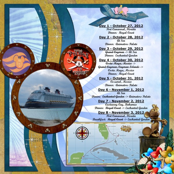 Disney Fantasy Cruise Itinerary 10-2012 - MouseScrappers - Disney