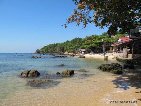A beachside view of Sihanoukville, Cambodia