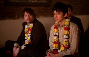 Ethan Hawke and Asa Butterfield in Ten Thousand Saints. Photograph by Linda Slatter Kallerus