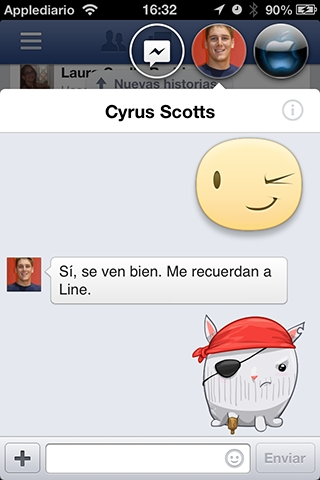 fabebook chat para iphone10