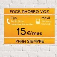 Pack Ahorro Voz