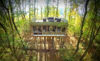 Tree-inn Baumhaus-Hotel im Wolfscenter Drvenden ist ein ...