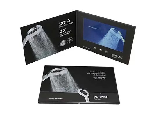 high resolution 7 inch LCD video mailer,video in print card, video