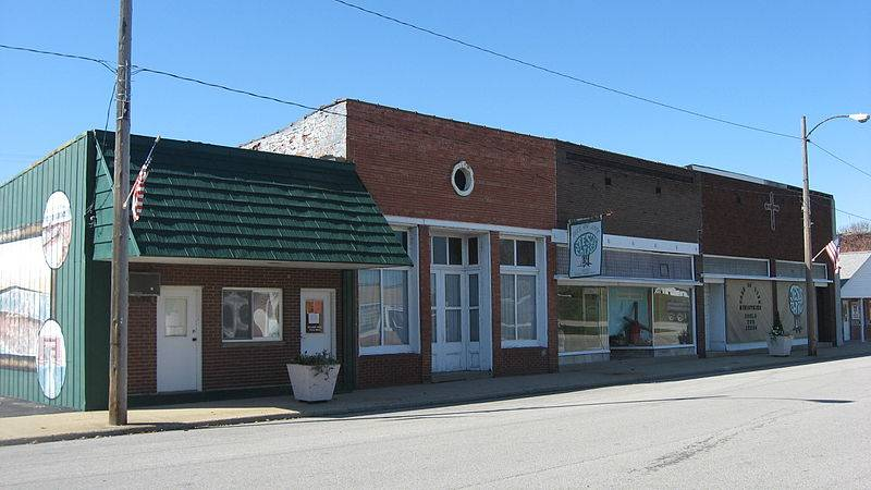 Hutsonville business district