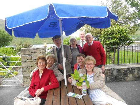 Members of the Over 55 club on a day trip to Kylemore Abbey in July 2016.