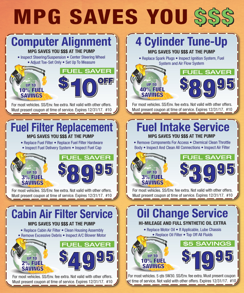 Service Coupons -