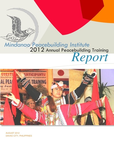 Annual Peacebuilding Training Reports - training report