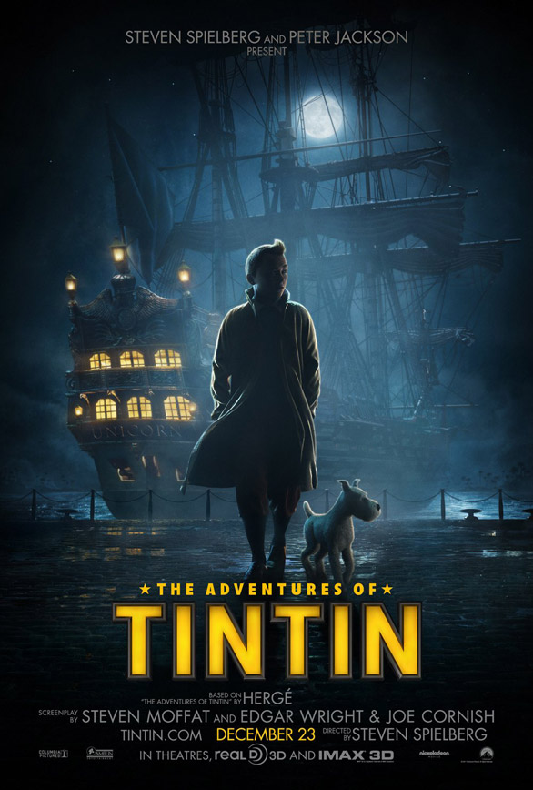 Download Filem The Adventures Of Tintin 2011 Bluray The Adventures of Tintin The Secret of the Unicorn movie poster x