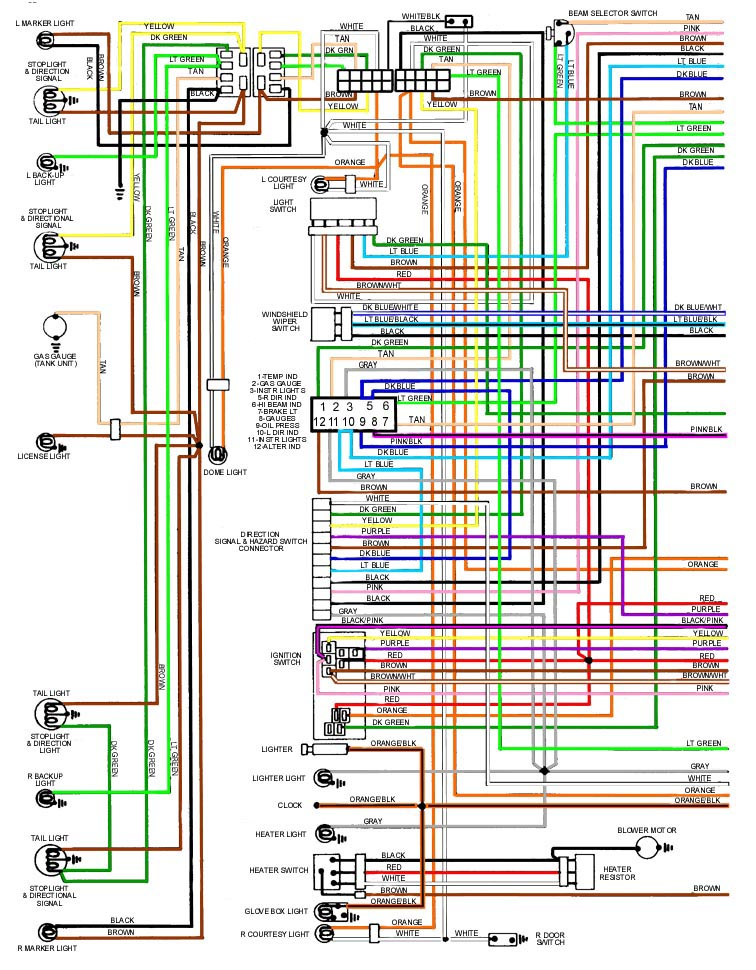 1967 pontiac lemans wiring diagram