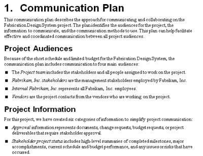 business plan \ other communication tools Business Plans - project design template