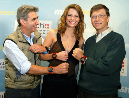 Launch der Swatch Paparazzi in New York mit Bill Gates (Foto: Microsoft)