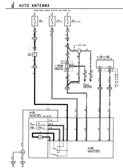 electric aerial wiring diagram