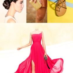 Look-de-fiesta-o-boda-estilo-helenico-rosa-dorado-fucsia