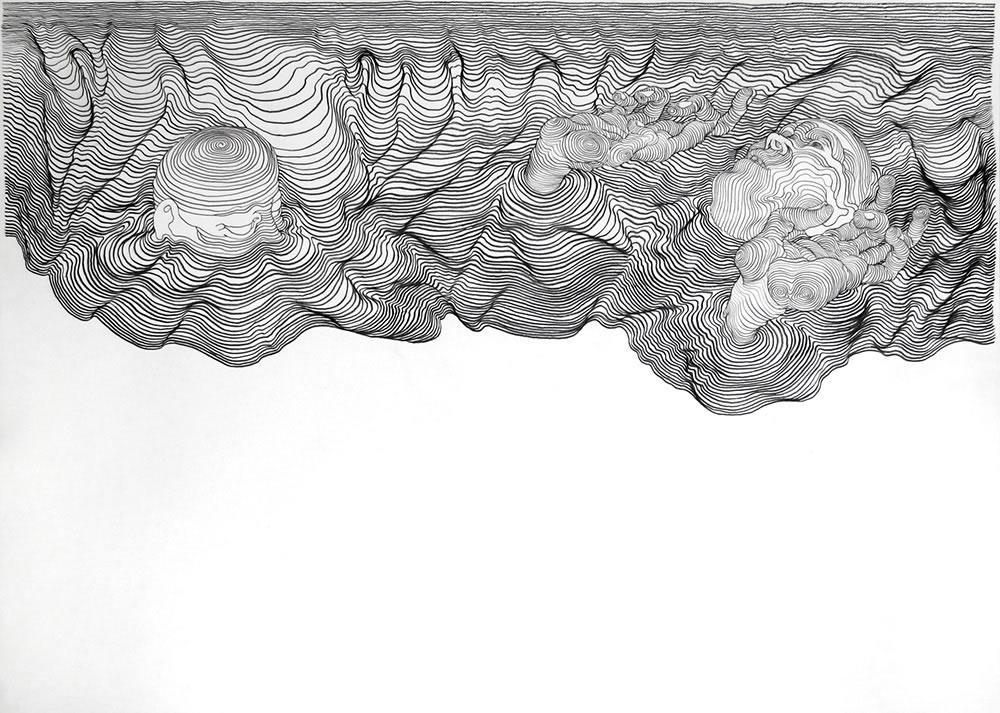 Contour Line Drawing MrDeyo - line drawing