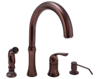 710-ORB Oil Rubbed Bronze 4 Hole Kitchen Faucet