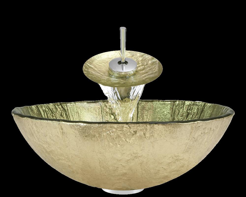 623 Clear Glass Vessel Bathroom Sink