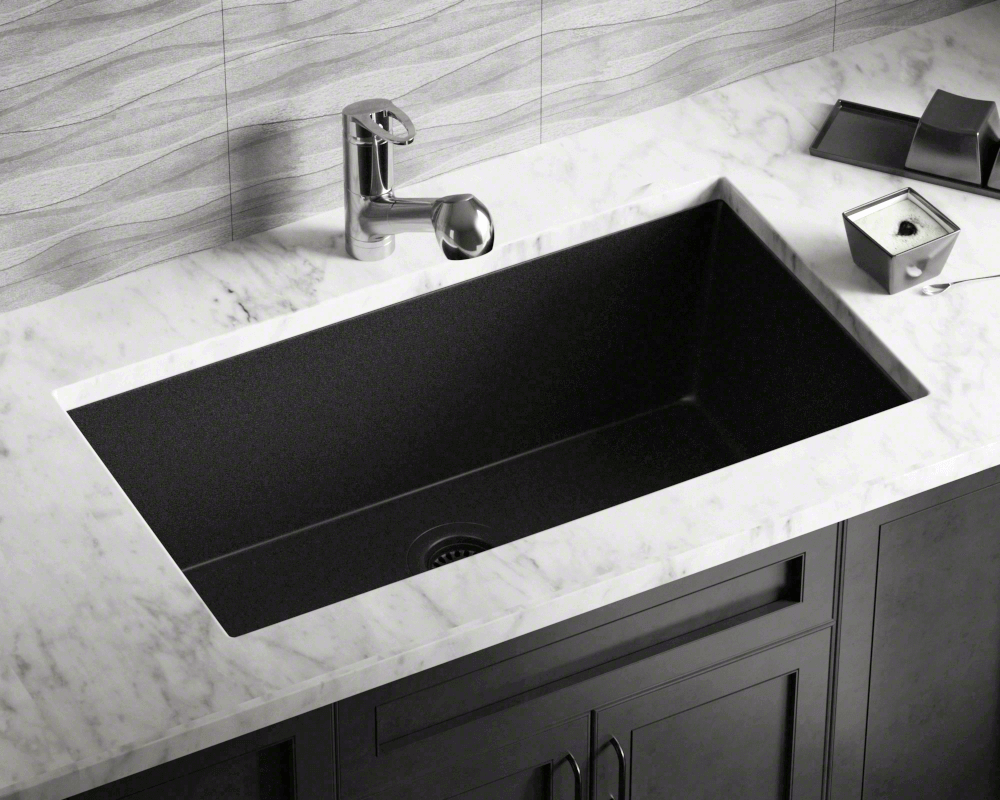 black large single bowl undermount trugranite kitchen sink white kitchen sink undermount Black Single Bowl Undermount TruGranite Sink