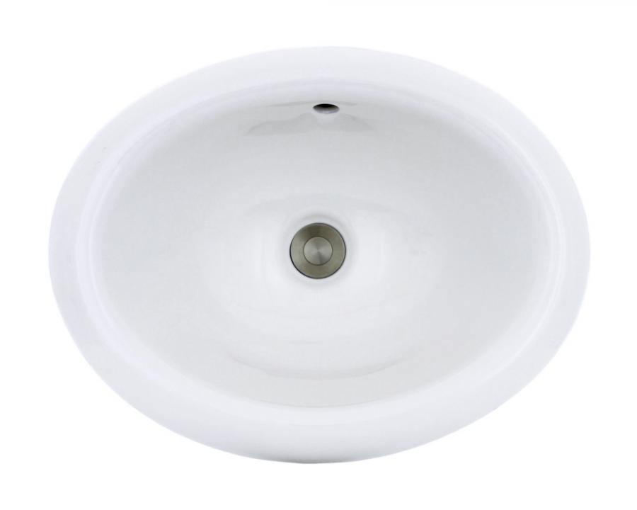 O1917 White Overmount Porcelain Vanity Bowl