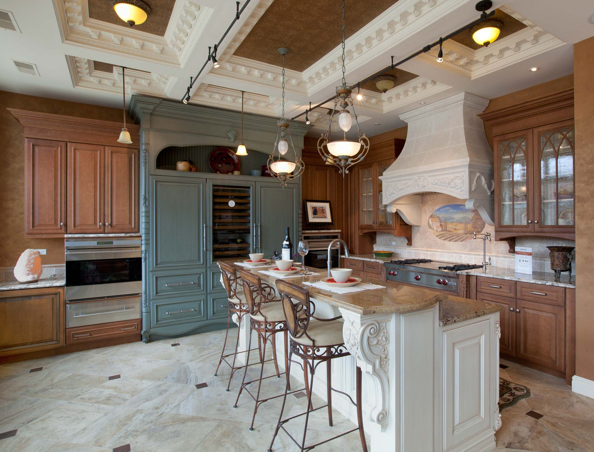 Mr floor chicago showroom traditional kitchen mixed tones 6059 v2 2048w