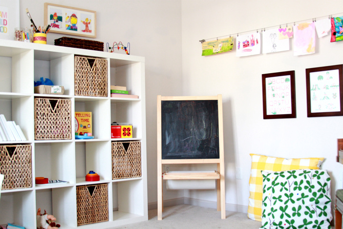 Kids storage ideas mr fox for Shelving for kids room