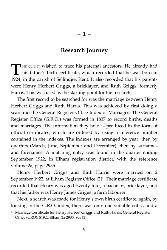 Family History Research Case Study
