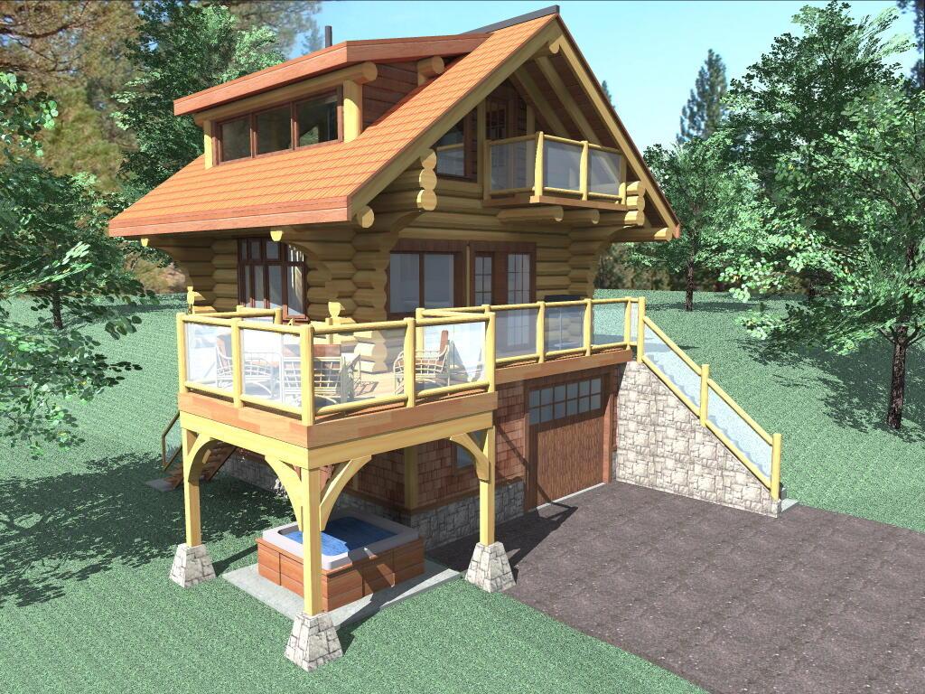 Bachelor 484 sq ft log cabin kit 3 484 sq ft log home plans