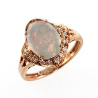 Rose Gold Ring: Rose Gold Ring With Opal