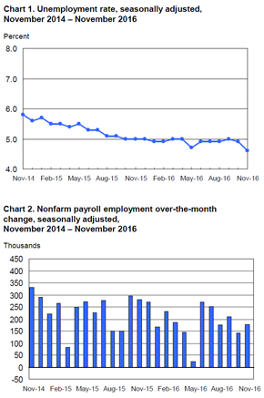 BLS Employment Situation Report November 2016 MRINetwork