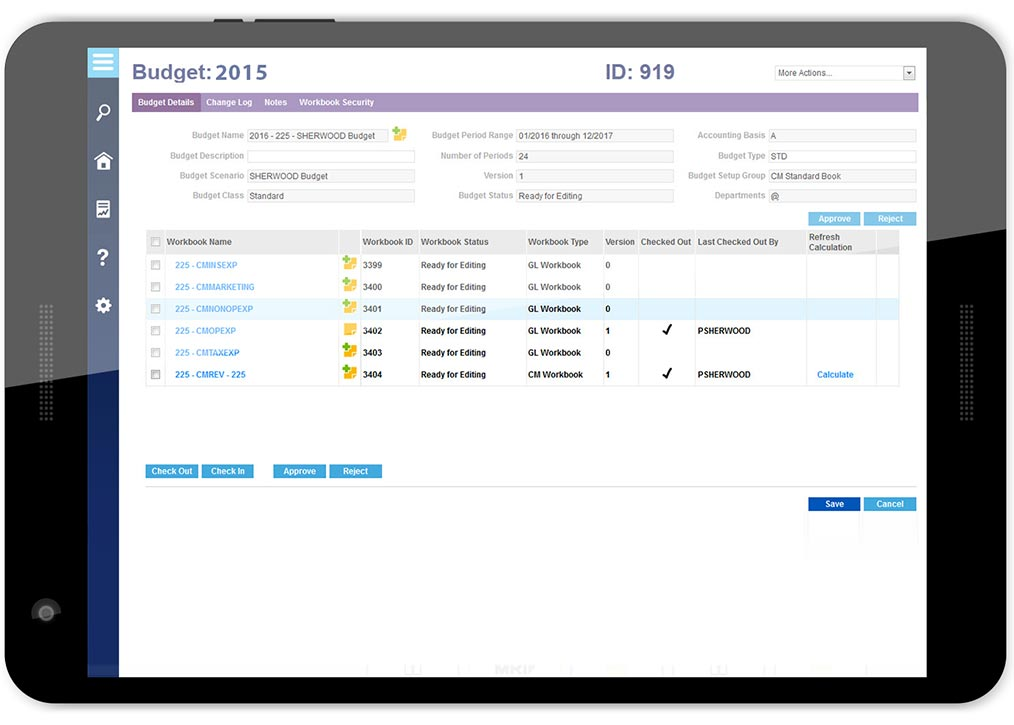 Budgeting  Forecasting - MRI Software - budget log