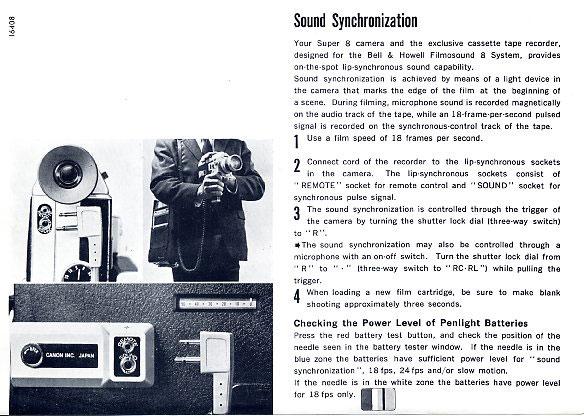 Movie Cameras - instruction manual