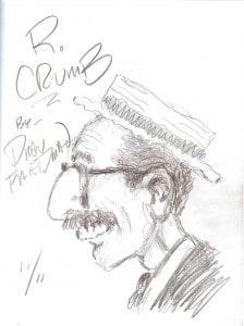 Drew Friedman R. Crumb Sketch 111711
