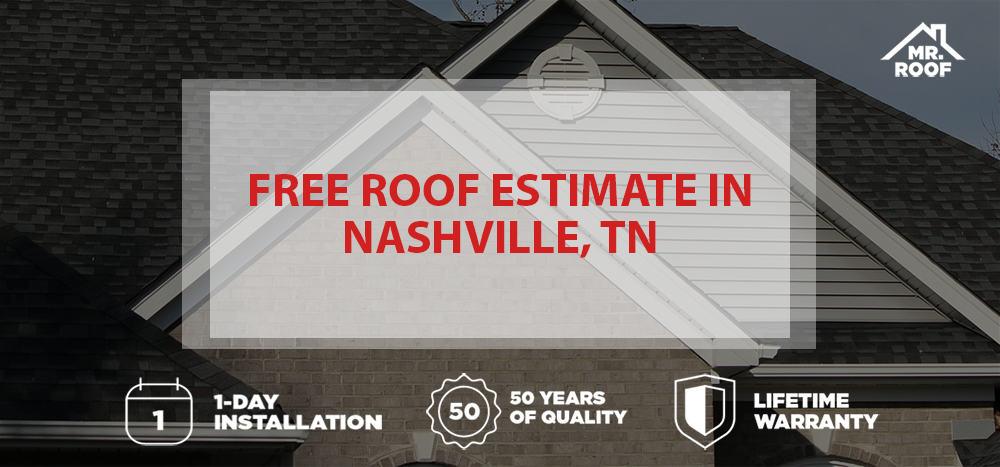 Free Roof Estimate in Nashville, TN Mr Roof Nashville